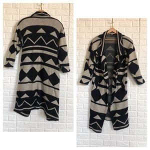 80's wool contempo casuals sweater coat cardigan